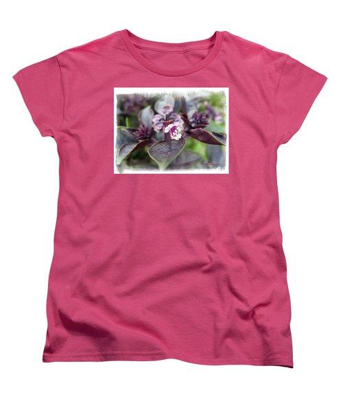 Women's T-Shirt (Standard Cut) featuring the photograph Purple In Autumn by Joan  Minchak