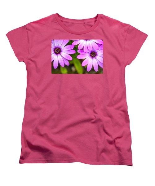 Purple Petals Women's T-Shirt (Standard Cut) by Az Jackson