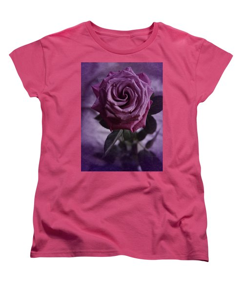 Purple Rose Of December Women's T-Shirt (Standard Cut) by Richard Cummings