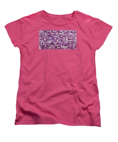 Purple Splatter Women's T-Shirt (Standard Cut) by Thomas Blood