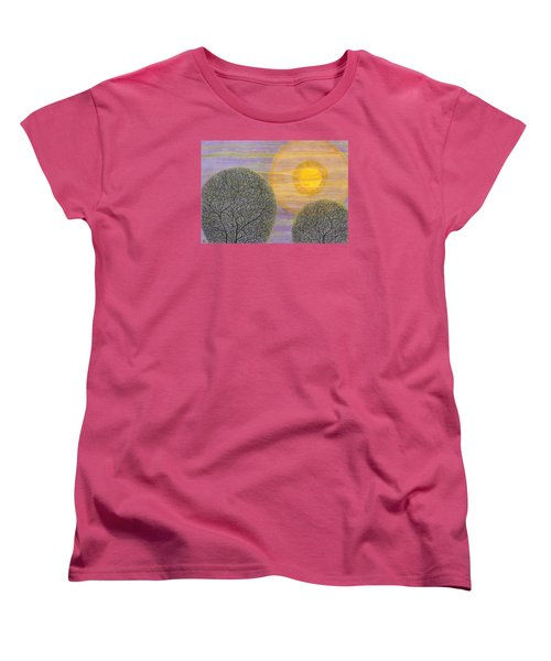 Purple Sunset Women's T-Shirt (Standard Cut) by Charles Cater