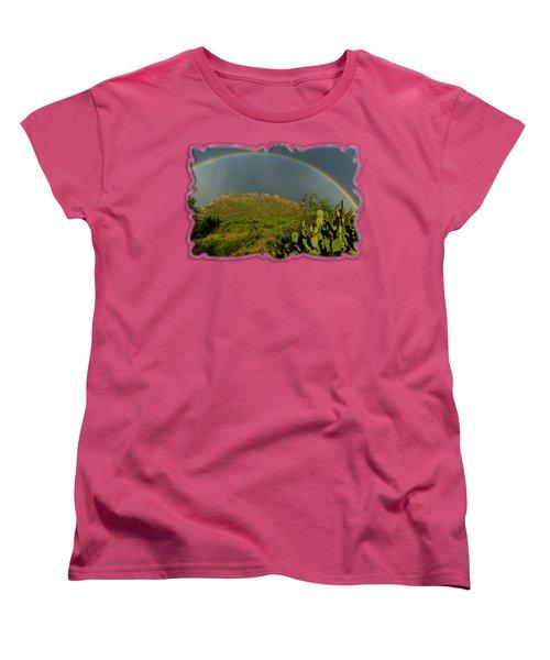 Pusch Ridge Rainbow H38 Women's T-Shirt (Standard Cut) by Mark Myhaver