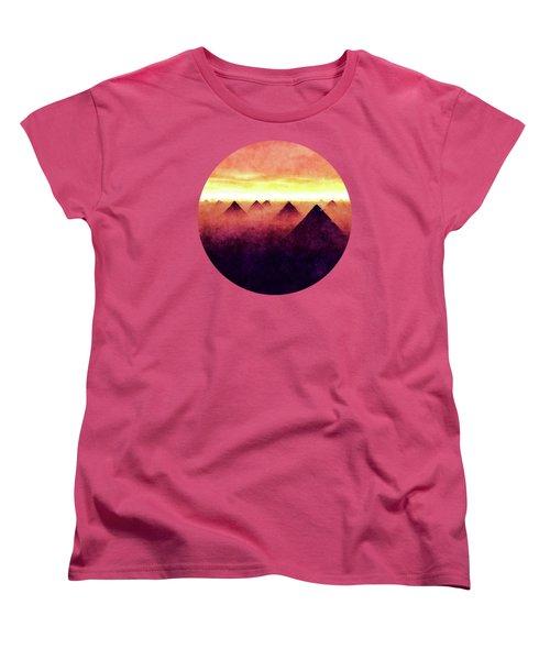 Pyramids At Sunrise Women's T-Shirt (Standard Cut) by Phil Perkins