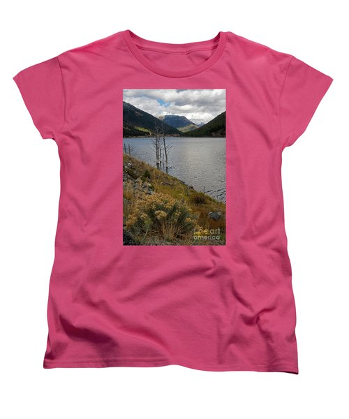 Quake Lake Women's T-Shirt (Standard Cut) by Cindy Murphy - NightVisions