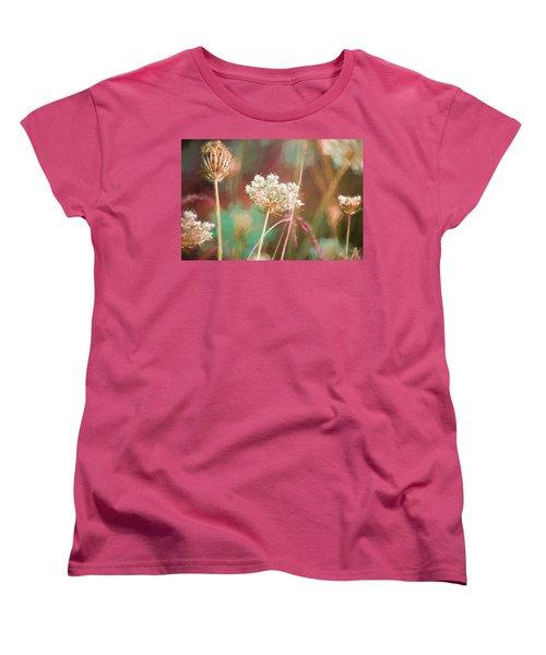 Women's T-Shirt (Standard Cut) featuring the digital art Queen Anne Impasto by Bonnie Bruno