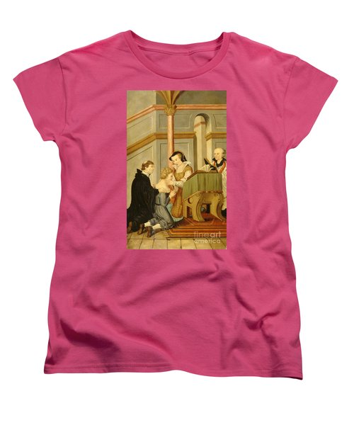 Queen Mary I Curing Subject With Royal Women's T-Shirt (Standard Cut) by Wellcome Images