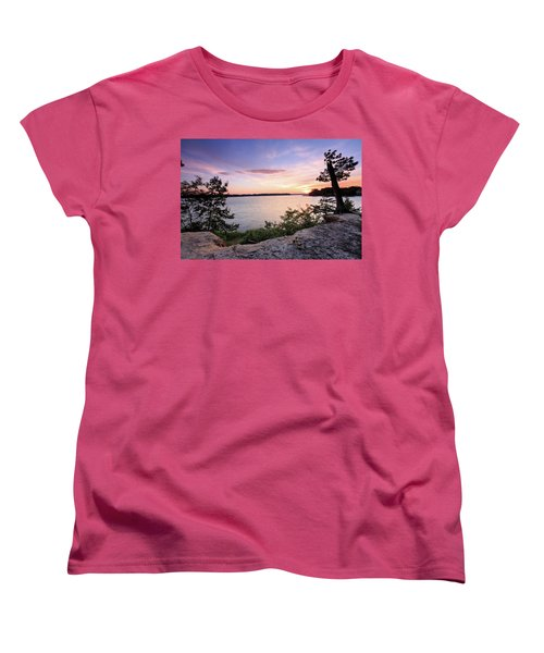 Women's T-Shirt (Standard Cut) featuring the photograph Quiet Sunset by Jennifer Casey