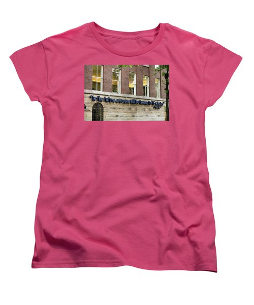 Women's T-Shirt (Standard Cut) featuring the photograph Quote Of Warhol 15 Minutes Of Fame by RicardMN Photography