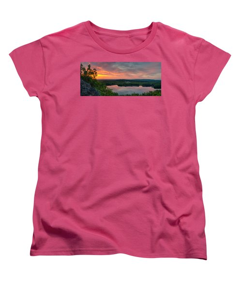 Ragged Mountain Sunrise Women's T-Shirt (Standard Cut) by Craig Szymanski