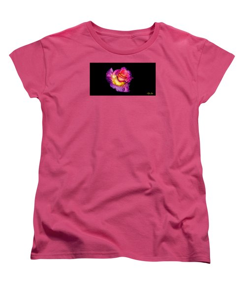 Rain-melted Rose Women's T-Shirt (Standard Cut) by Rikk Flohr