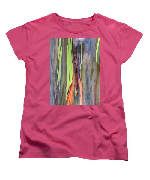 Rainbow Eucalyptus 13 Women's T-Shirt (Standard Cut) by Dawn Eshelman