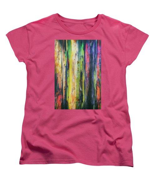 Women's T-Shirt (Standard Cut) featuring the photograph Rainbow Grove by Ryan Manuel