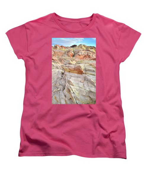 Rainbow Of Color At Valley Of Fire Women's T-Shirt (Standard Cut) by Ray Mathis