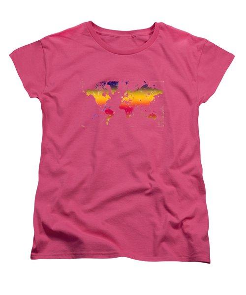 Rainbow World Tee Women's T-Shirt (Standard Cut) by Paulette B Wright