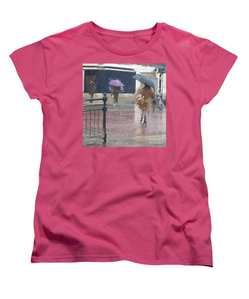 Women's T-Shirt (Standard Cut) featuring the photograph Raining All Around by LemonArt Photography
