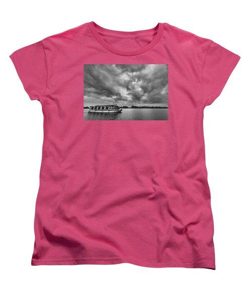 Women's T-Shirt (Standard Cut) featuring the photograph Rainy Day Cruise by Hitendra SINKAR