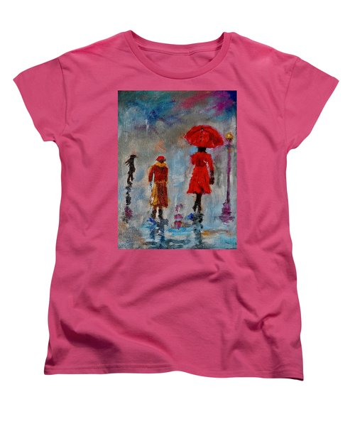 Rainy Spring Day Women's T-Shirt (Standard Cut) by Sher Nasser