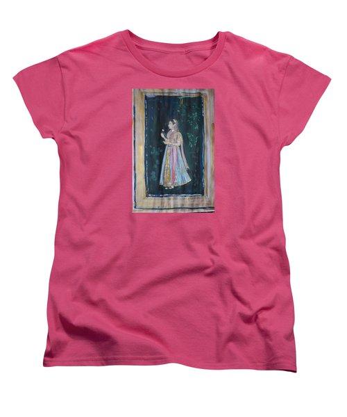 Women's T-Shirt (Standard Cut) featuring the painting Raj Kumari by Vikram Singh