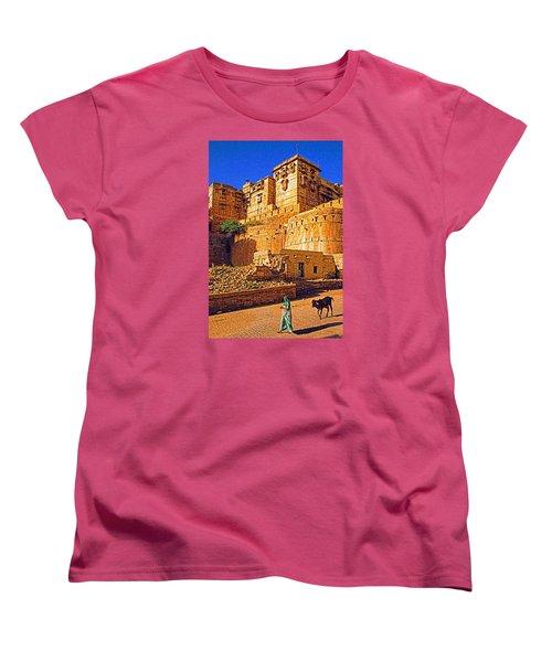 Women's T-Shirt (Standard Cut) featuring the photograph Rajasthan Fort by Dennis Cox WorldViews