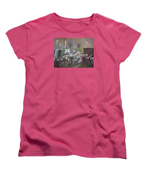 Women's T-Shirt (Standard Cut) featuring the painting Raob Ambulance by Judith Desrosiers