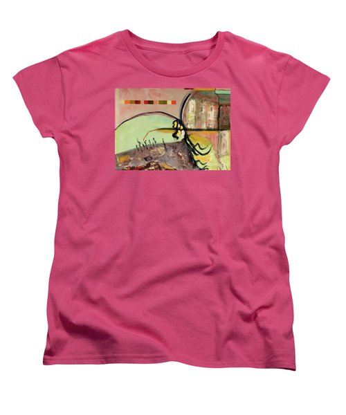 Rational Thought Begins Here Women's T-Shirt (Standard Cut) by Paul McKey