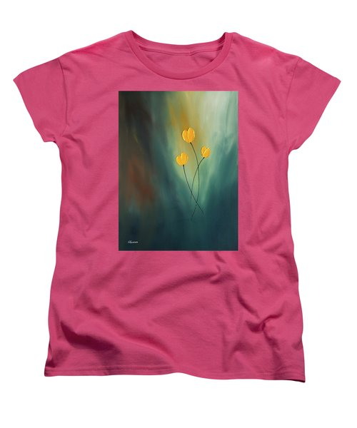 Women's T-Shirt (Standard Cut) featuring the painting Rays Of Hope by Carmen Guedez