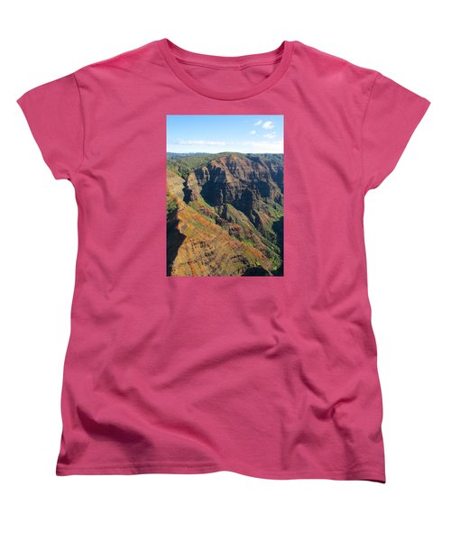 Women's T-Shirt (Standard Cut) featuring the photograph Razor's Edge by Brenda Pressnall
