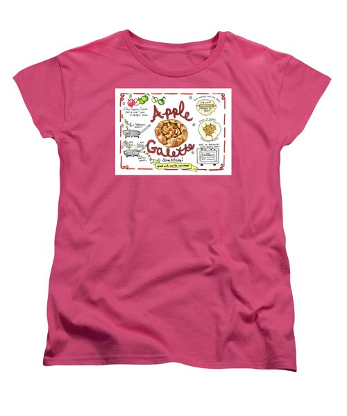 Recipe- Apple Galette Women's T-Shirt (Standard Cut)