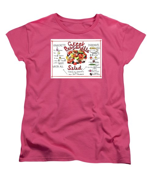 Recipe- Panzanella Salad Women's T-Shirt (Standard Cut)