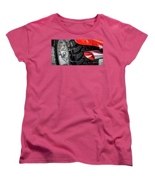 Women's T-Shirt (Standard Cut) featuring the photograph Red 4x4 by Brad Allen Fine Art
