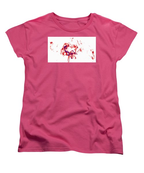 Red And Blue Twirrl Women's T-Shirt (Standard Cut) by Rainer Kersten