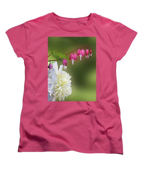Red And White Women's T-Shirt (Standard Cut) by Judy Johnson