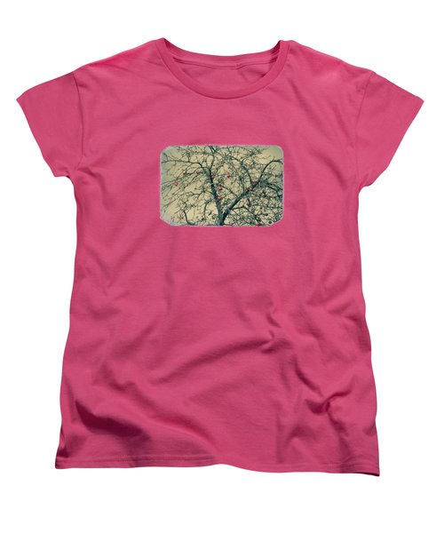 Red Apples In Empty Garden Women's T-Shirt (Standard Cut) by Konstantin Sevostyanov