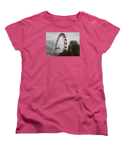 Women's T-Shirt (Standard Cut) featuring the photograph Red Eye by Shirley Mitchell