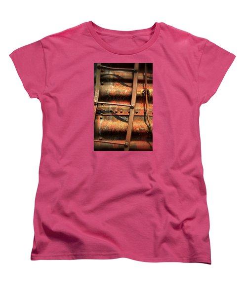 Red Ladder Women's T-Shirt (Standard Cut) by Newel Hunter