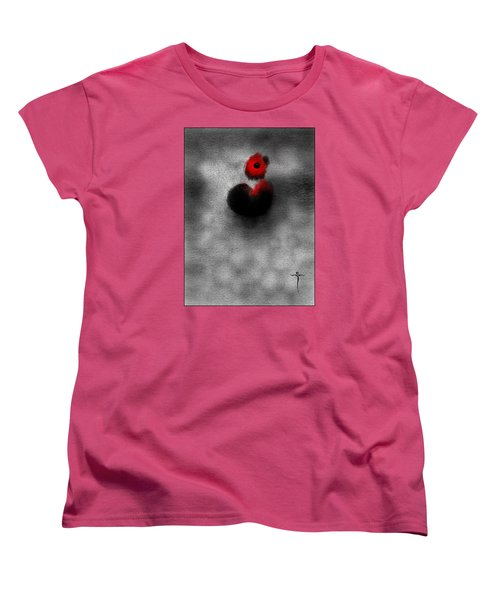 Women's T-Shirt (Standard Cut) featuring the digital art Red Mouse by James Lanigan Thompson MFA