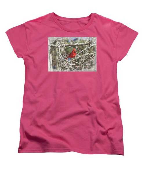 Women's T-Shirt (Standard Cut) featuring the photograph Red Neck by Robert Pearson