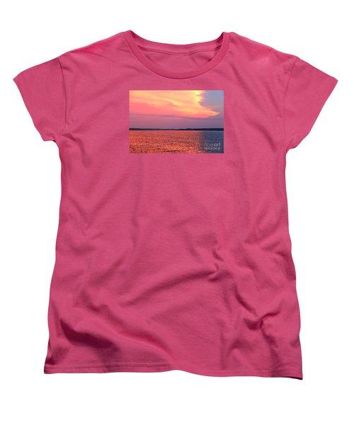 Red Reflection  Women's T-Shirt (Standard Cut) by Yumi Johnson