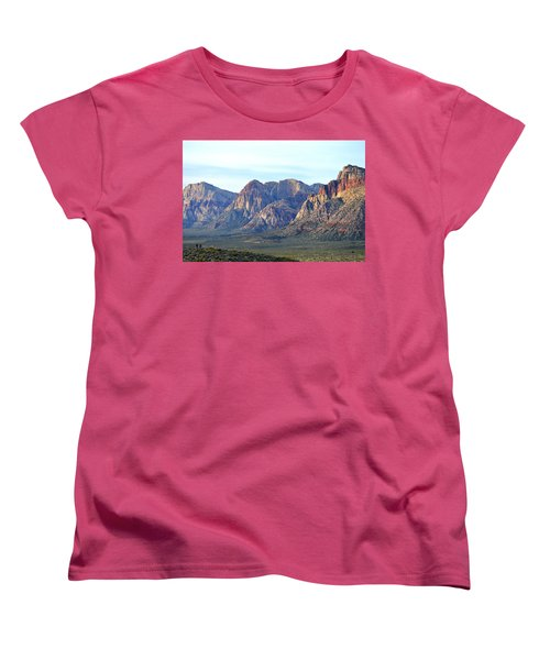 Women's T-Shirt (Standard Cut) featuring the photograph Red Rock Canyon - Scale by Glenn McCarthy Art and Photography