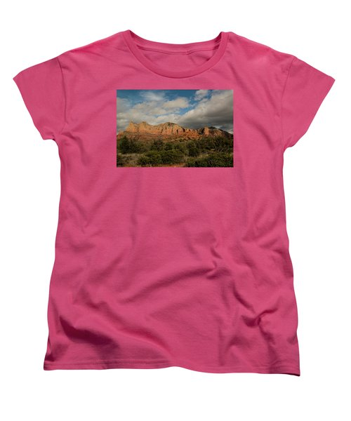 Red Rock Country Sedona Arizona 3 Women's T-Shirt (Standard Cut) by David Haskett