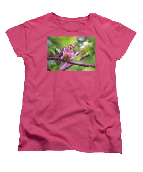 Women's T-Shirt (Standard Cut) featuring the digital art Red Shoes by Lois Bryan