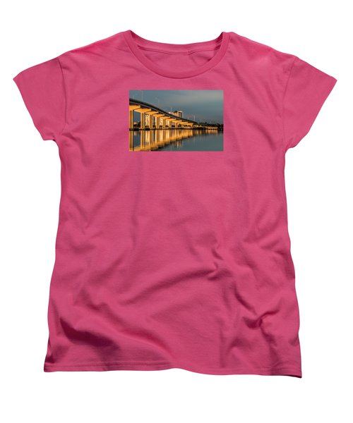 Reflections And Bridge Women's T-Shirt (Standard Cut) by Dorothy Cunningham