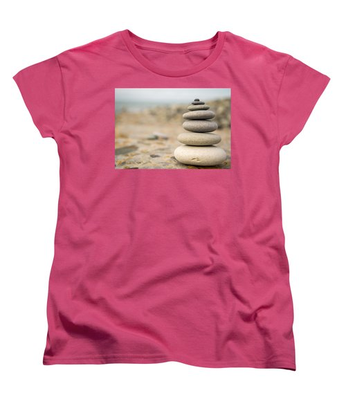 Women's T-Shirt (Standard Cut) featuring the photograph Relaxation Stones by John Williams