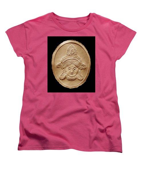 Relief Drawing Of Goddess Durga Devi  Women's T-Shirt (Standard Cut) by Suhas Tavkar