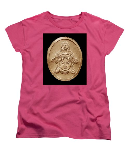 Relief Drawing Of Goddess Durga Devi  Women's T-Shirt (Standard Cut)