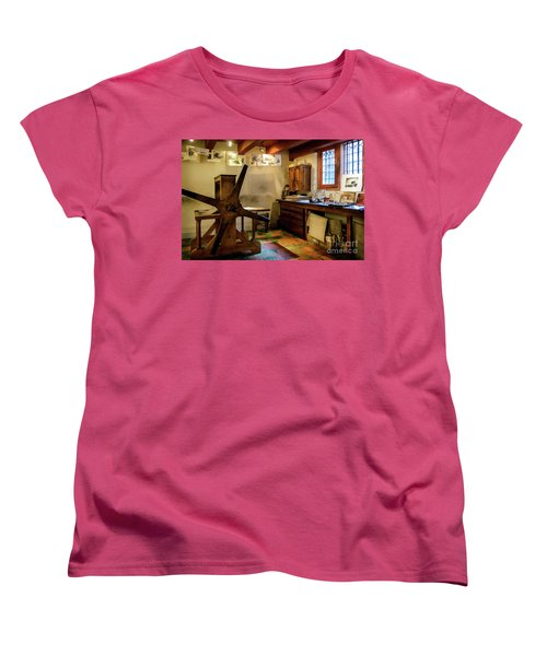 Women's T-Shirt (Standard Cut) featuring the photograph Rembrandt's Former Graphic Workshop In Amsterdam by RicardMN Photography