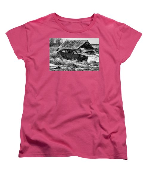 Women's T-Shirt (Standard Cut) featuring the photograph Remember The Past Work For The Future by Bob Christopher
