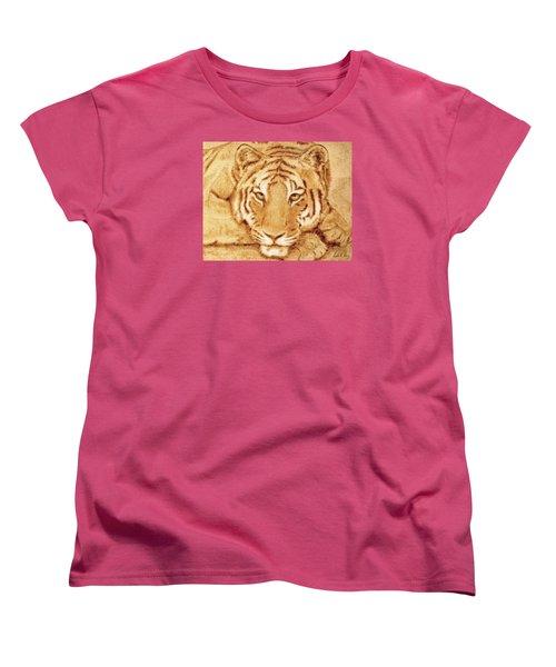 Resting Tiger Women's T-Shirt (Standard Cut) by Dale Loos Jr