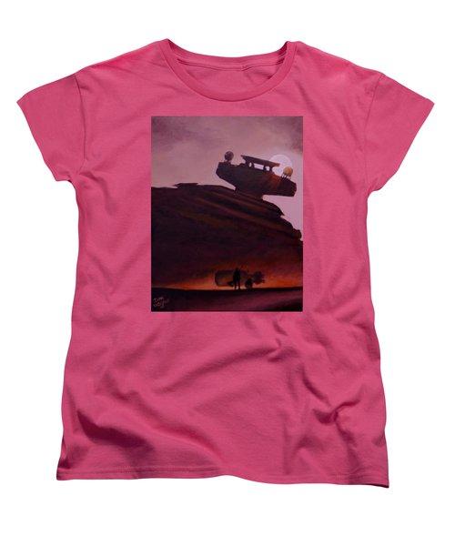 Rey Looks On Women's T-Shirt (Standard Cut) by Dan Wagner