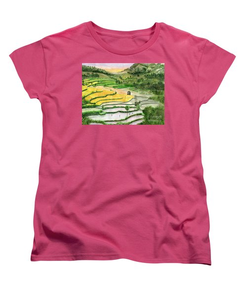 Ricefield Terrace II Women's T-Shirt (Standard Cut) by Melly Terpening